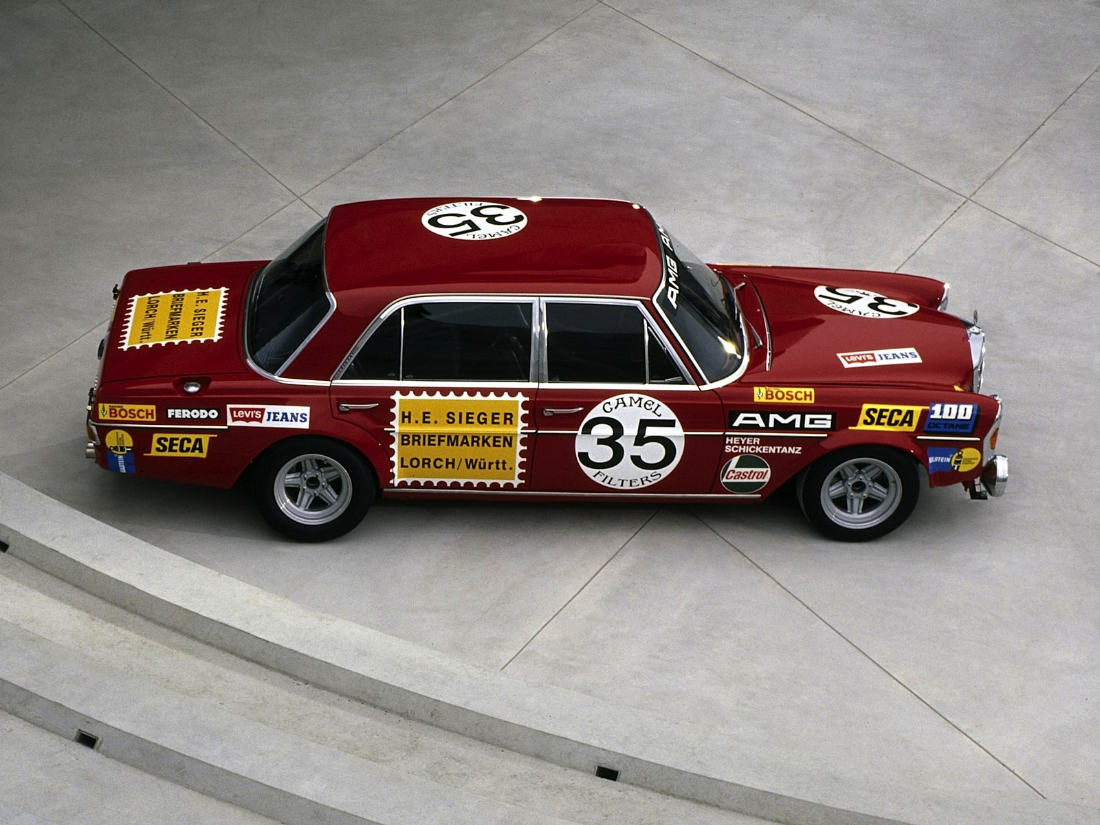 Legendary icon mercedes benz 300 sel amg 6 8 w109 red for Mercedes benz classic center germany